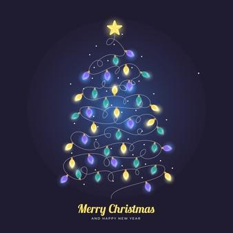 Download Christmas Tree Made Of Light Bulbs For Free Christmas Tree Made Of Lights Buy Christmas Tree Merry Christmas Vector