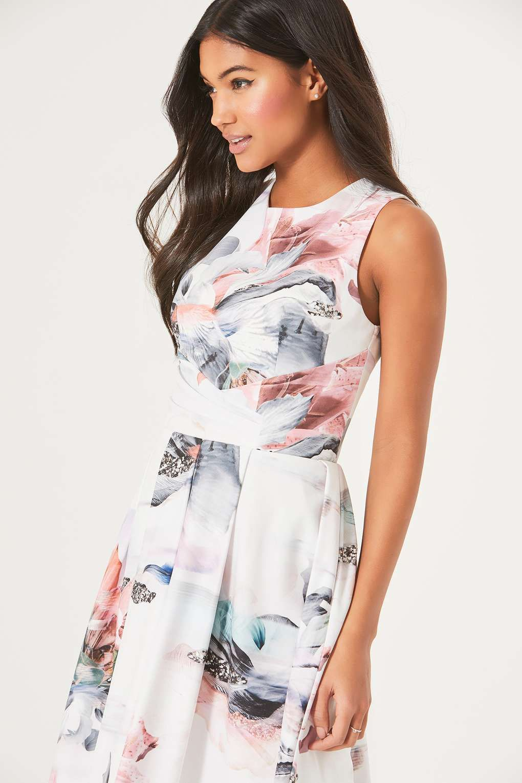 Fit-and-Flare-Kleid mit Lilien-Print - Kleider- Wallis Germany ...