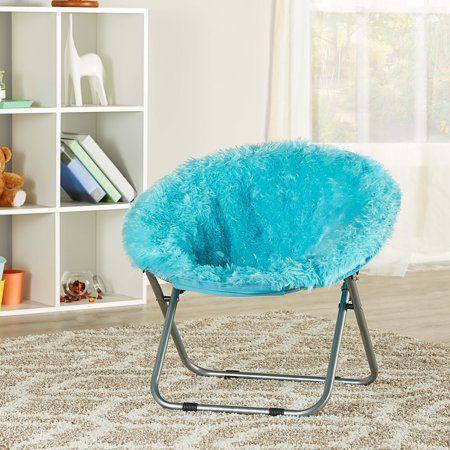 Astonishing Mainstays Kids Blair Plush Faux Fur Saucer Chair Multiple Alphanode Cool Chair Designs And Ideas Alphanodeonline