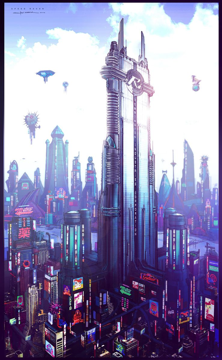 City Concept Art Cyberpunk