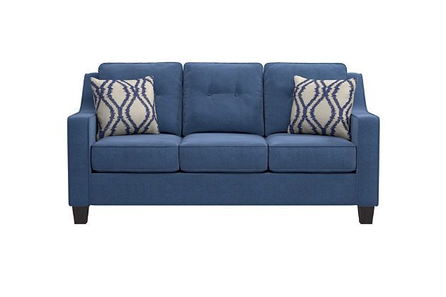 Best Karis Sofa And Pillows By Ashley Homestore Blue Sofa 400 x 300