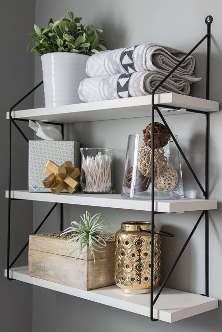 Fresh  Modern Powder Room Reveal  The Greenspring Home  Decorating Tips Interior Design  Home Decor Blogger  Mix Révélation dune salle deau fraîche et...