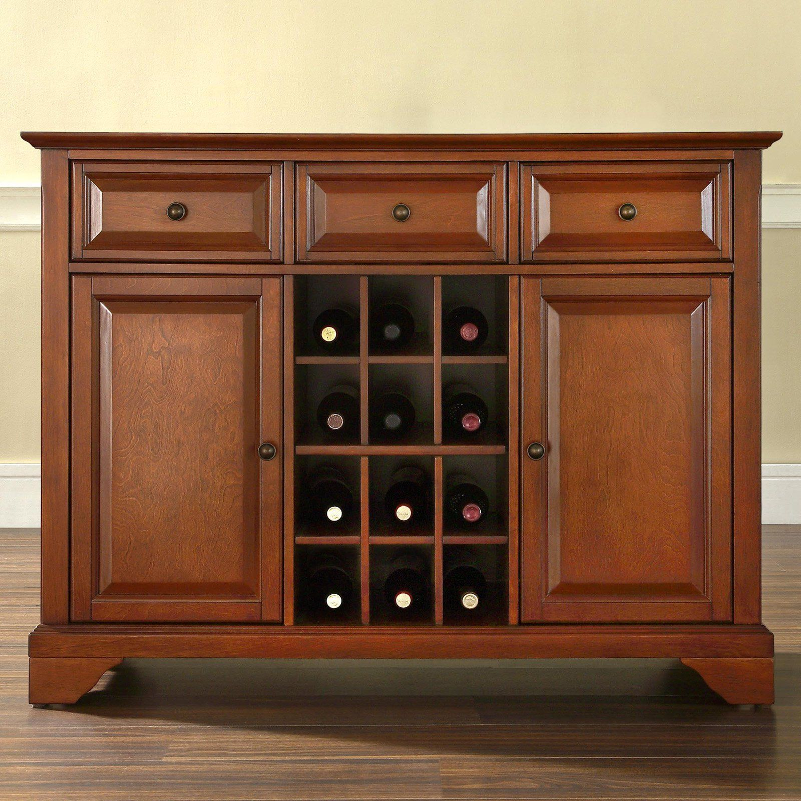 kitchen buffet storage cabinet out door crosley lafayette server with wine for the home from hayneedle com