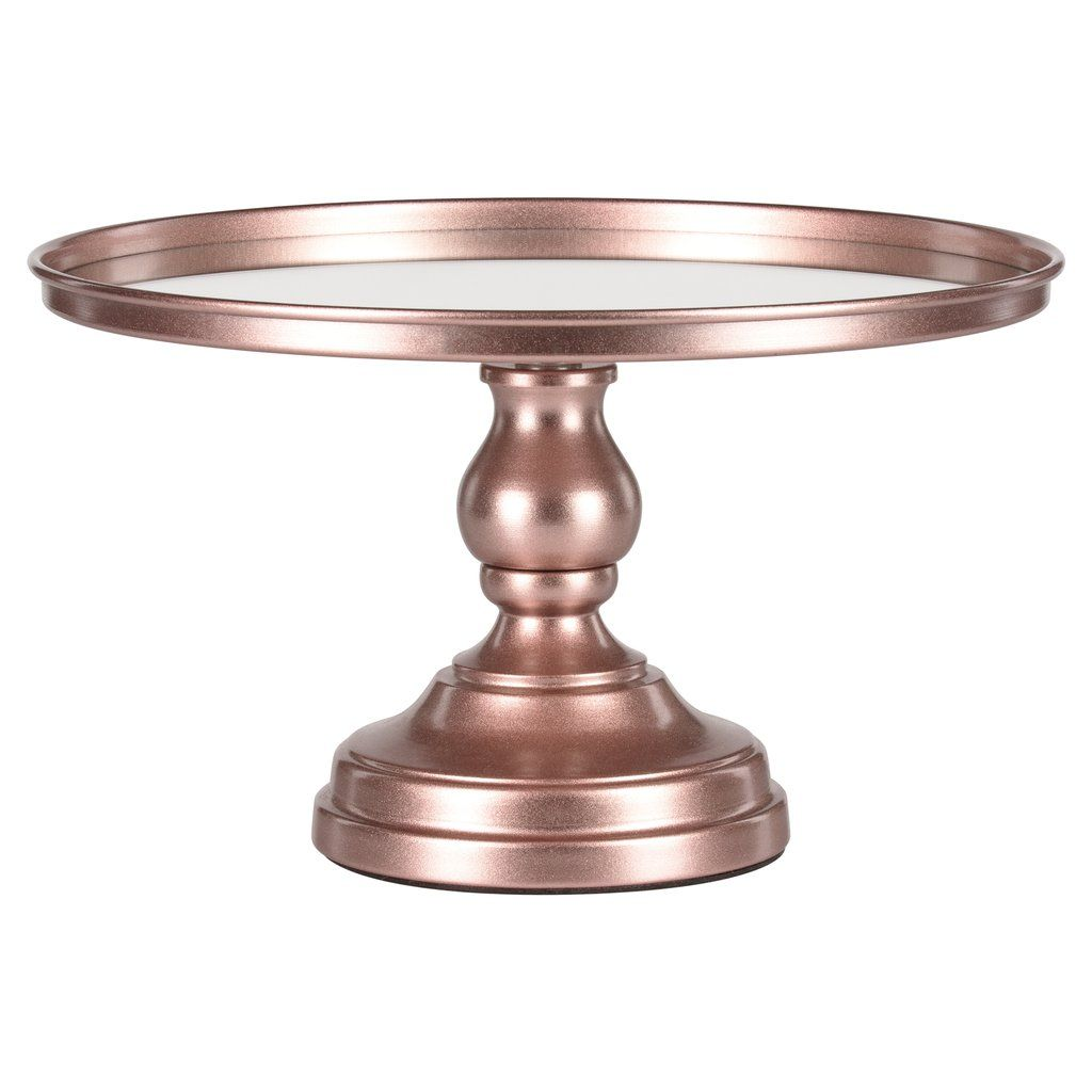12 Inch Mirror Top Cake Stand Rose Gold In 2020 Dessert Stand Gold Cake Stand Cake Cupcake Stand