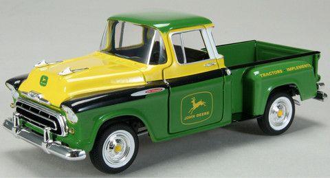 1/25 John Deere 1957 Chevy Pickup – GreenToys4u.com #johndeere #chevypickup