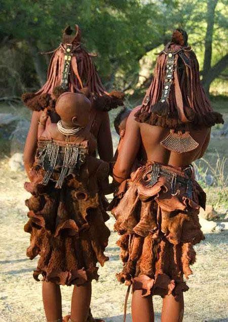 Himba Girls Namibia African People Himba Girl Himba People