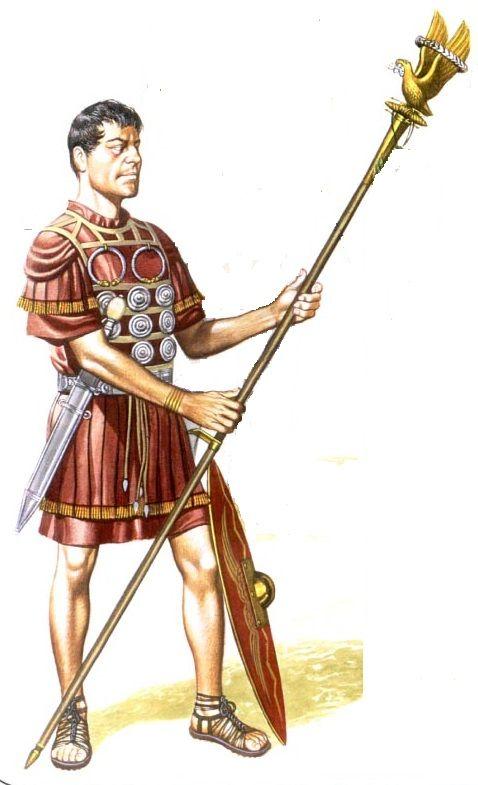 Orden de Batalla. Historia Militar: Las Legiones Romanas. Organización y Rangos. Aquilifer (G. Embleton).