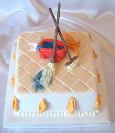 mop and bucket retirement cake from sugarlicious ltd ...