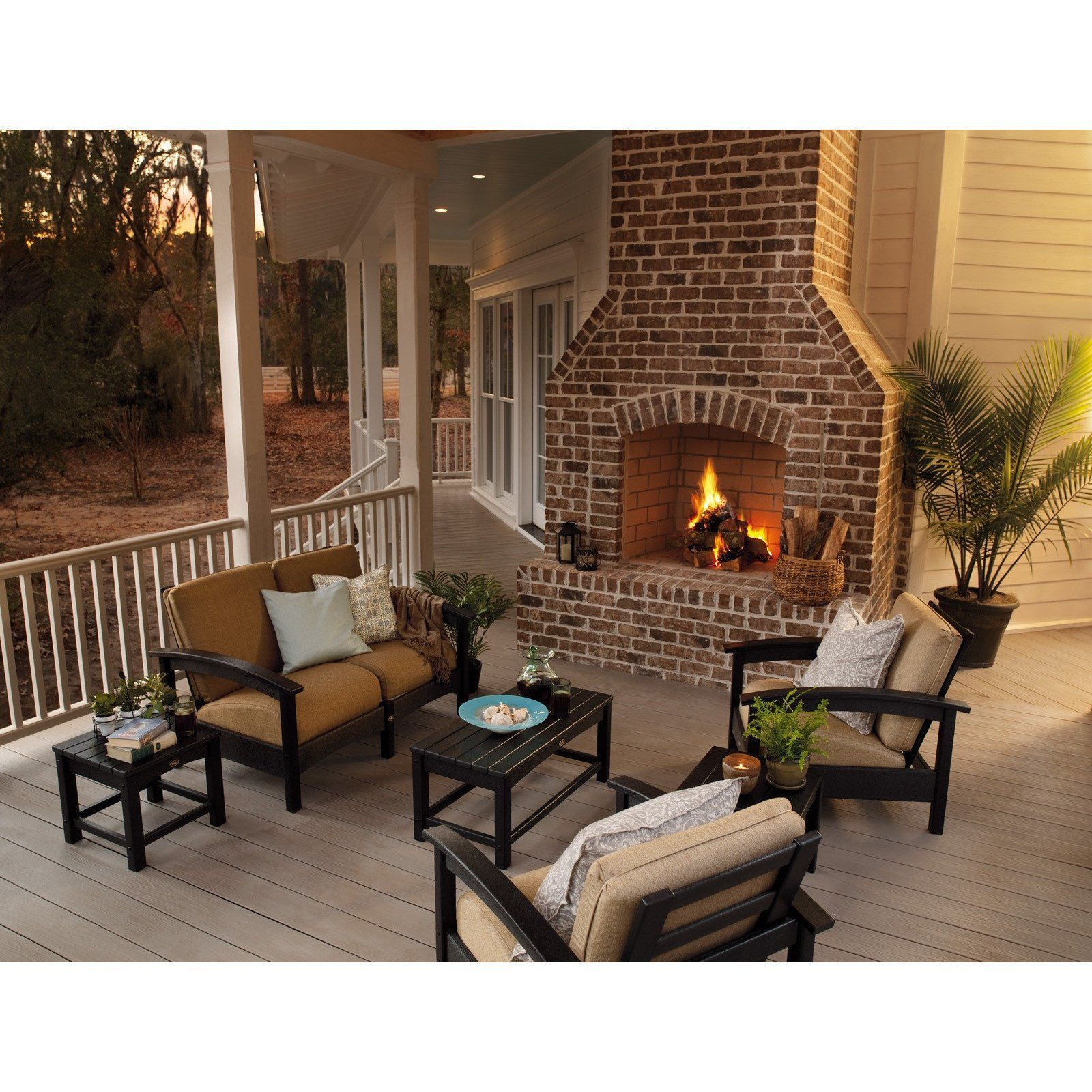 Trex Outdoor Furniture Rockport Club Coffee Table Patio