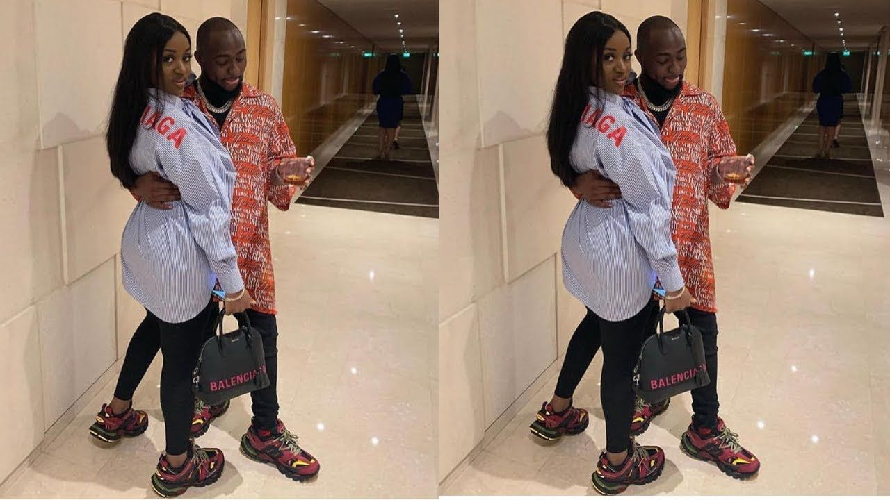 Davido And His Wife Chioma Rocks Same Balenciaga Outfit In