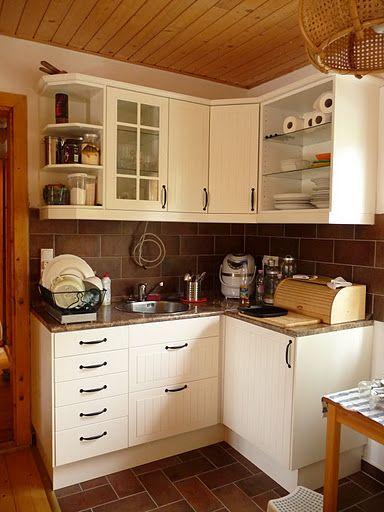 Stuff We Used White Kitchen Ikea Stat With Butterum Granite Countertop And Brown Tile Backsplash Keuken Indeling Keuken Ikea