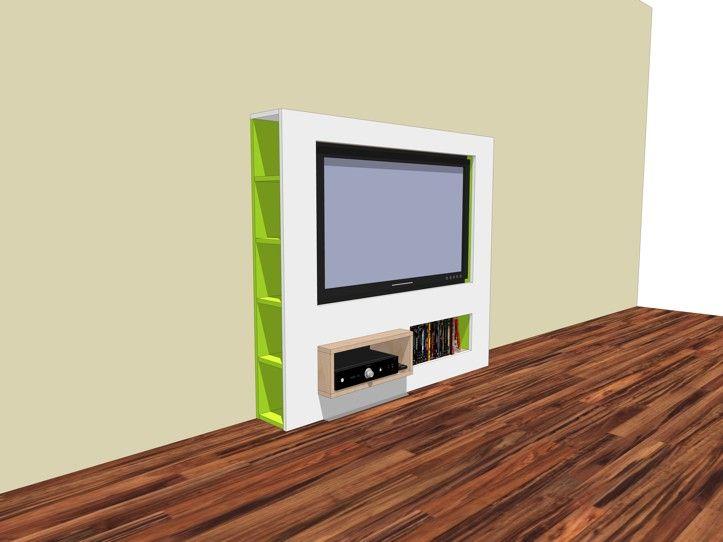 Tv Meubel Zelf Bouwen.Sleek Elegant Tv Stand Self Build With Neo Eko Construction Drawing