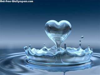Water heart wallpaper