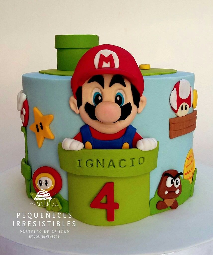 Mario Cake Super Mario Cake Mario Bros Cake Mario Birthday Cake