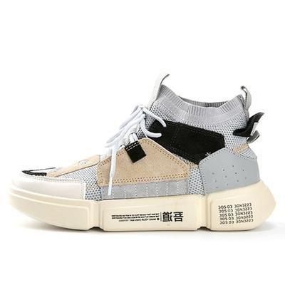 adboov brand retro high top sneakers men mixed colors