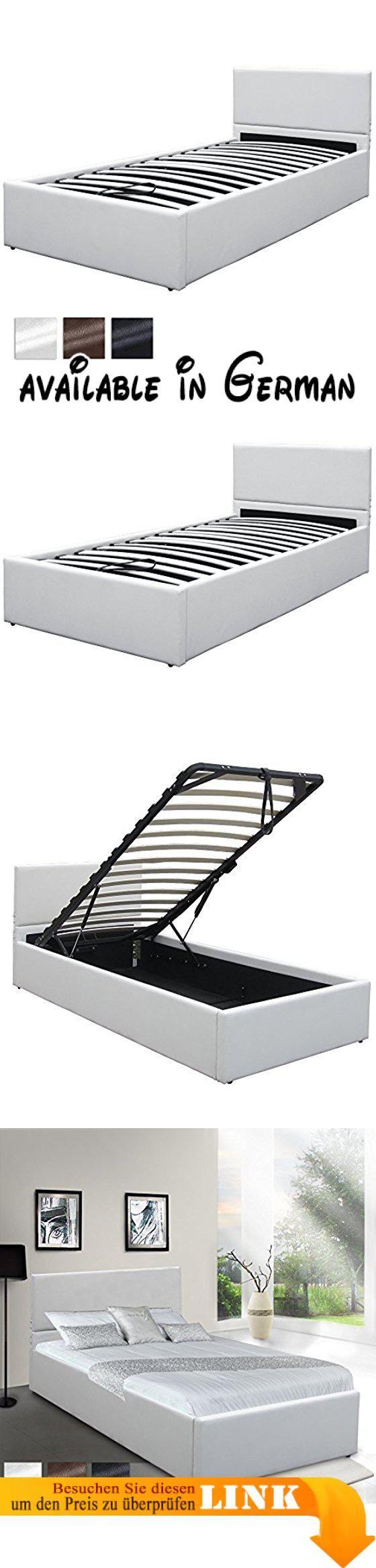 B00SMV4NQ6 : Kunstlederbett 90x200 cm mit integriertem Lattenrost ...