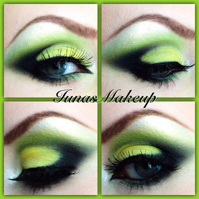 Poisonous green  #elfcosmetics #makeup #bhcosmetics #eyebrow #eyeshadow #yellow #youtube #mua