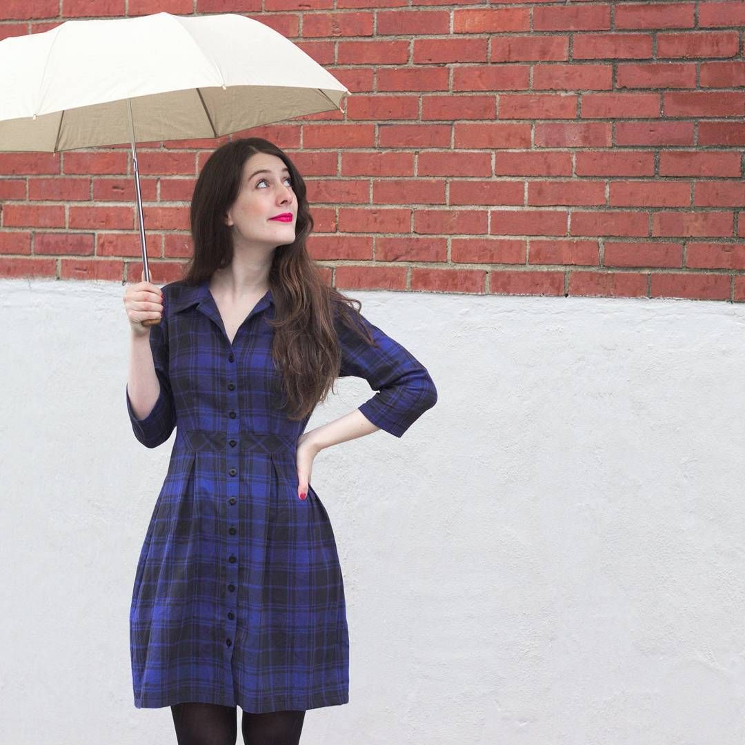 Flannel into dress  Posted about my new plaid flannel shirtdress on the blog adapted