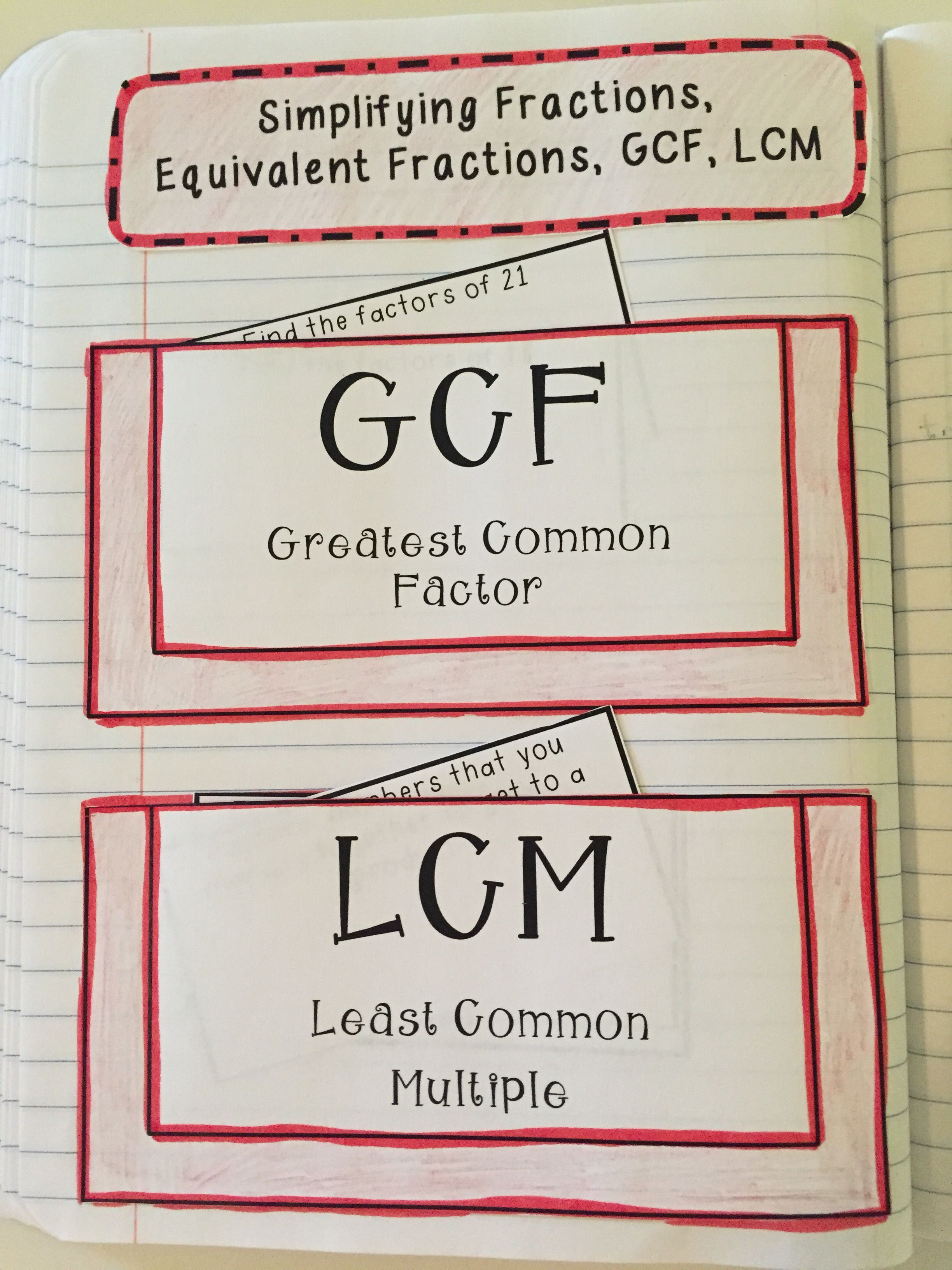 Fraction Concepts Lesson Interactive Notes Assessment