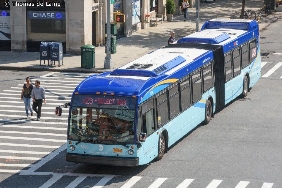 Mta Bus Nova Lfs Artic On M23 Bus New Bus Transportation