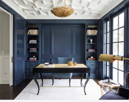 Navy Blue Home Office Ideas Home Office Design Office Interior