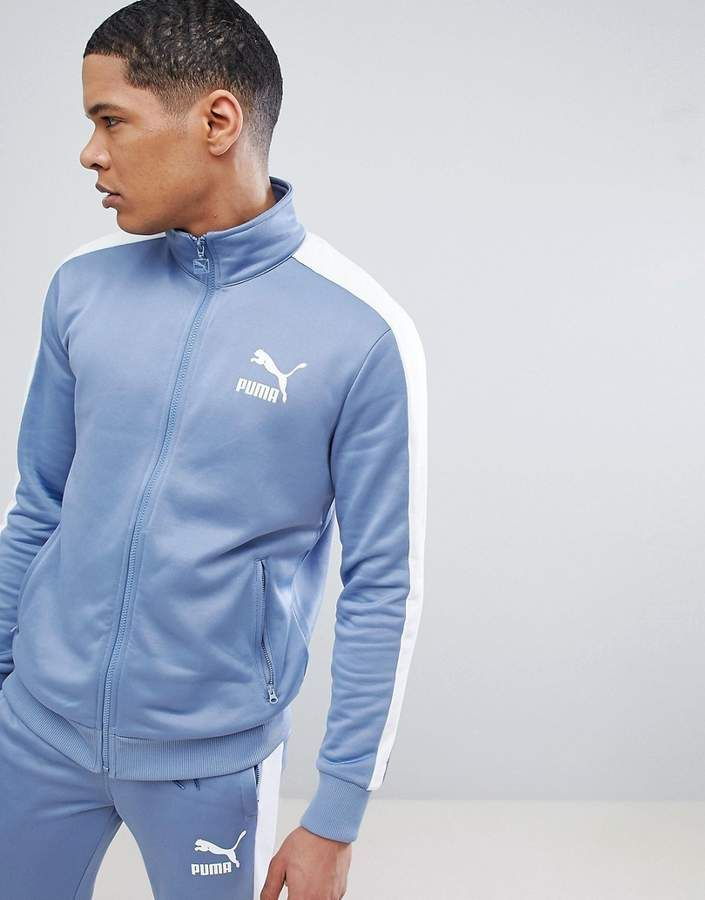 Puma Archive T7 Track Jacket In Blue 57265875 | Designer
