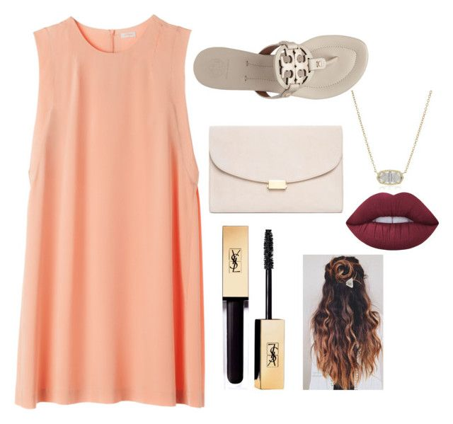 """""""casual dress"""" by griffinkite on Polyvore featuring Tory Burch, Lime Crime, Kendra Scott and Mansur Gavriel"""