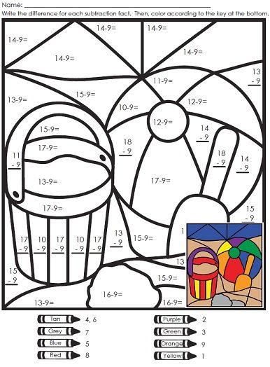 A Summer Mystery Picture Super Teacher Worksheets Super Teacher Math Mystery Picture