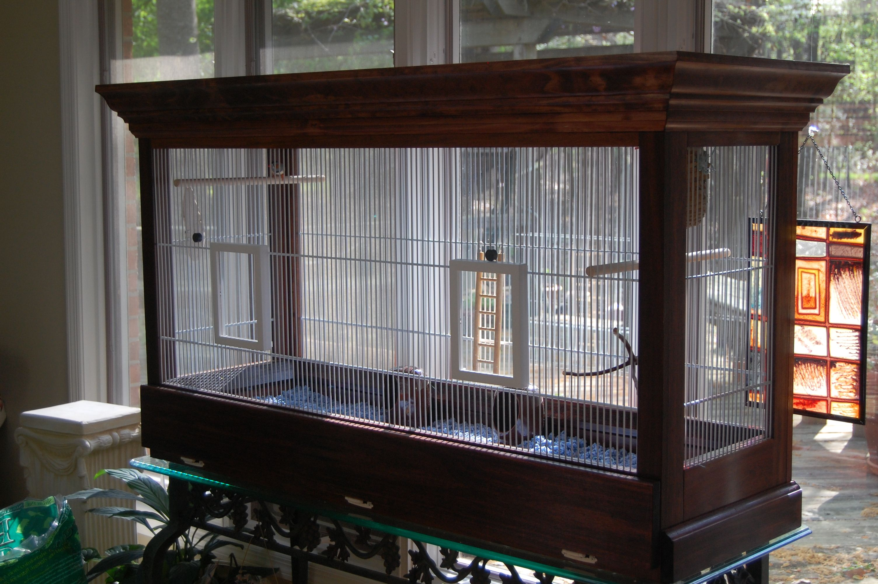 Finch flight cage I built for my Atticus Finch and Miss ...
