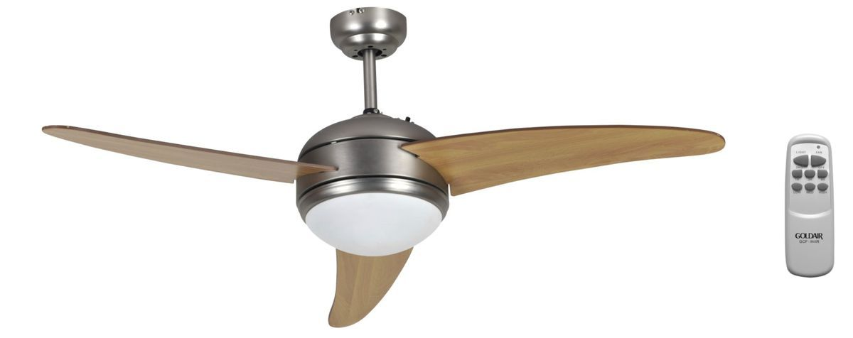 Goldair 3 Blade 1 Light Ceiling Fan With Remote 120cm 6001889033763 Buy Online In South Africa Ceiling Fan Ceiling Fan With Remote 3 Blade Ceiling Fan