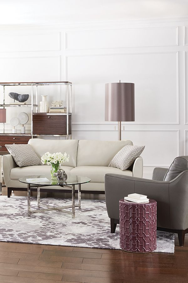 Uptown style A neutral palette and sumptuous materials look elegant