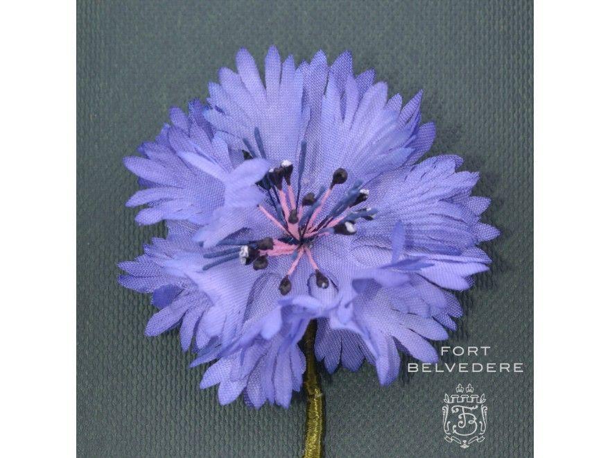Blue Cornflower Detail Boutonniere By Fort Belvedere