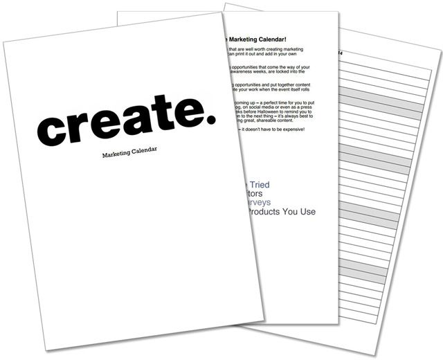 Free Content Marketing Calendar Pinterest Content marketing
