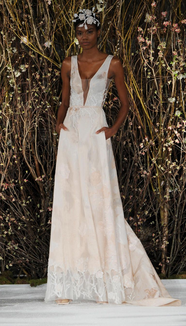 See Mira Zwillinger S Bold Barely There Wedding Dresses For Spring 2017