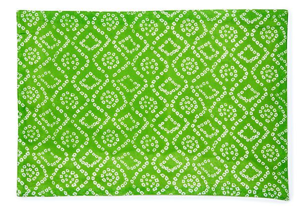 I Like This Color And Pattern S 6 Bandini Place Mats Lime Green On Onekingslane Com Designer Pillow Placemats Divine Design