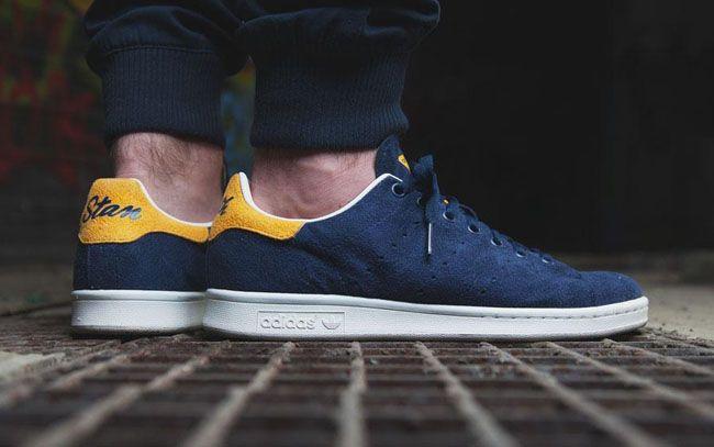 Adidas Stan Smith Blue Yellow