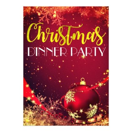 Sparkling Christmas Dinner Party Invite Zazzle Com Beautiful