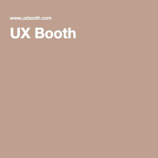 UX Booth is a multi-author blog catering to the user