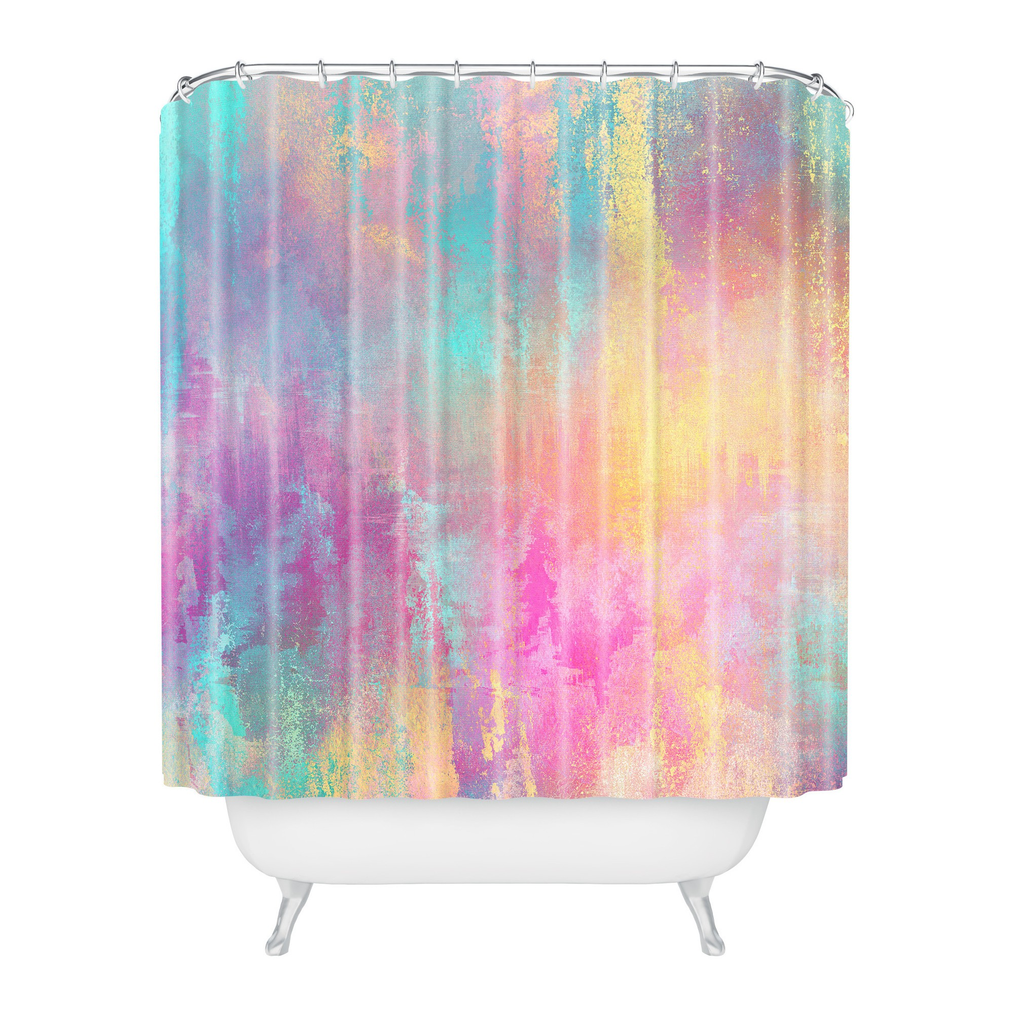 Watercolor Shower Curtain Pink Deny Designs Watercolor Shower
