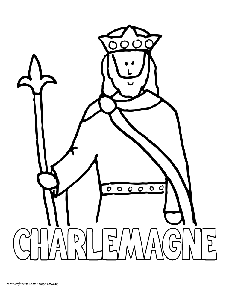 World History Coloring Pages Printables Charlemagne Jerome