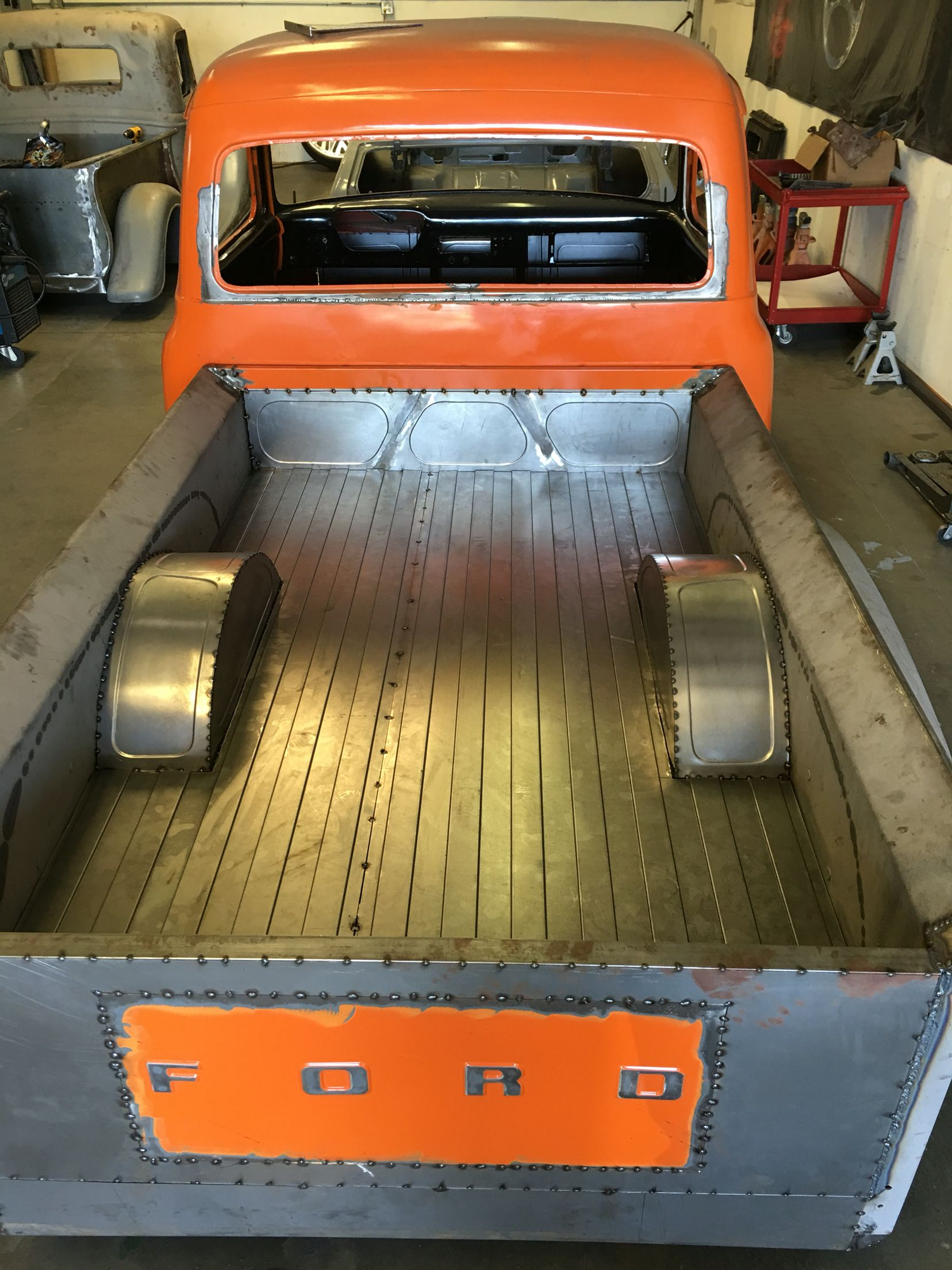 1953 Ford F100 Bagged Custom Bed And Fender Tubs For 24x15 Raceline