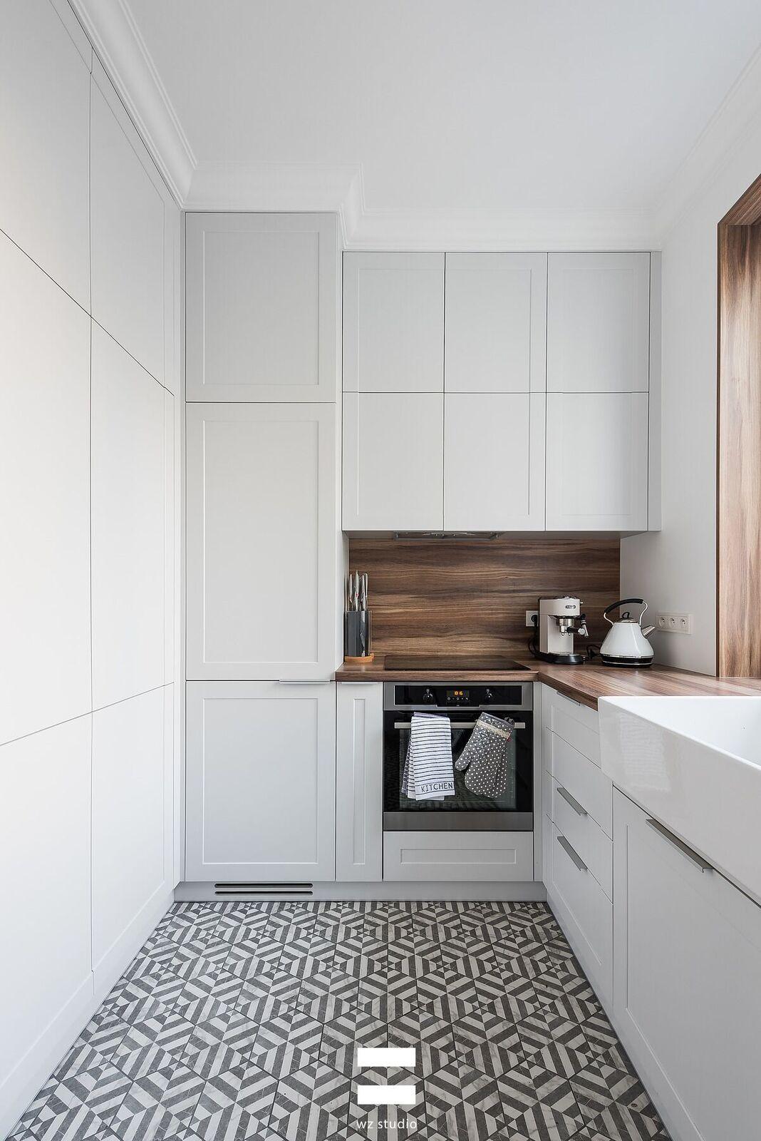 Mieszkanie 50m2 Proj Wz Studio Ih Internity Home Kitchen Design Home Kitchen Cabinets