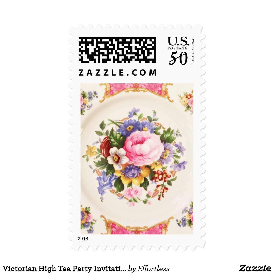 Victorian High Tea Party Invitation Postage | Tea party invitations ...