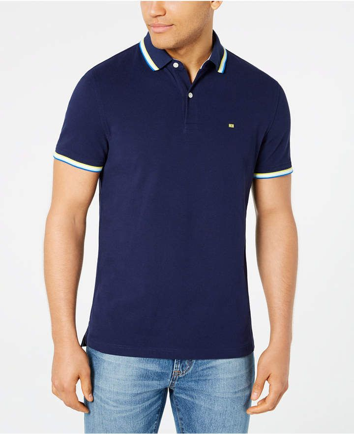 339ba3ac Tommy Hilfiger Men Tanner Contrast-Stripe Polo in 2019 | Products ...
