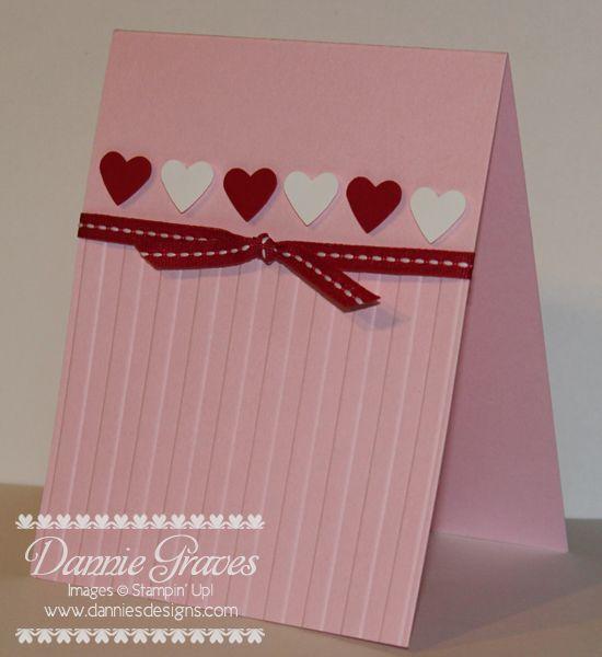 simple valentine - Valentine Cards Pinterest