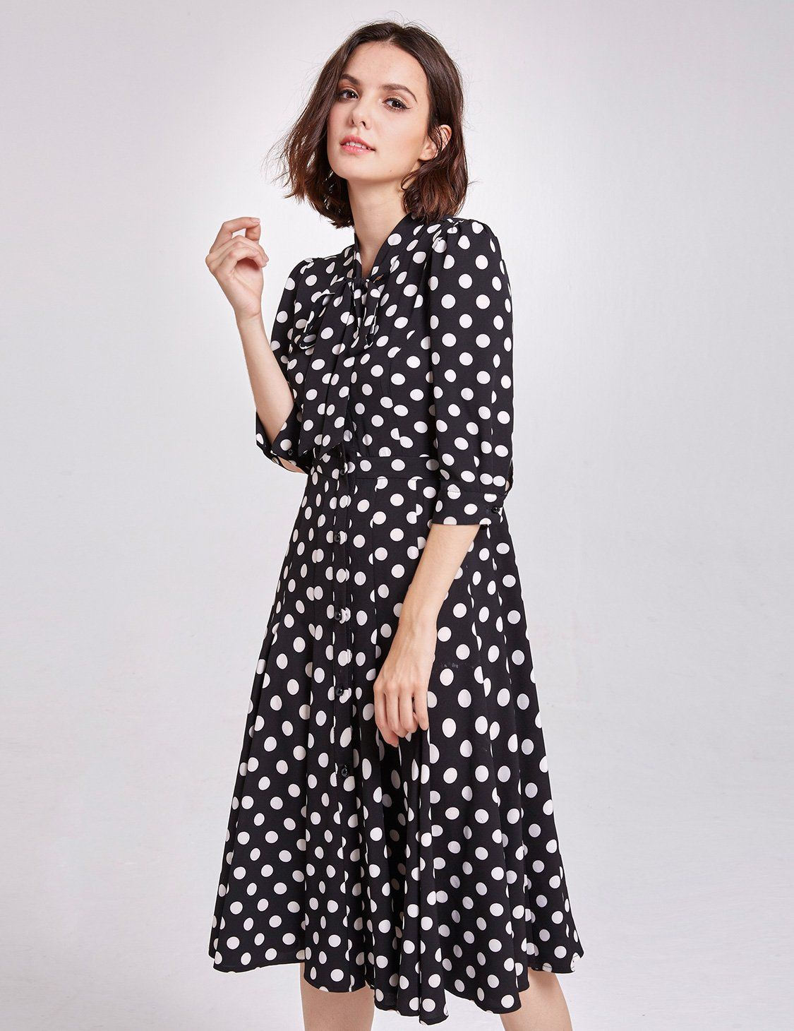 5c18814ddf3 Maternity Fashion - Alisa Pan Womens Maternity Wrap VNeck Polka Dot Dress  Summer Spot Dress Size 14 White and Black -- Check out this great item.