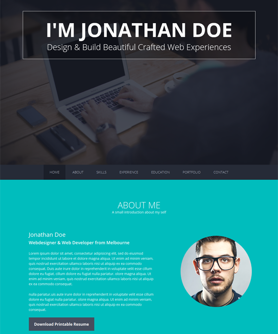 this resume and cv joomla theme features a responsive layout animated backgrounds a bootstrap - Resume Cv Joomla Template