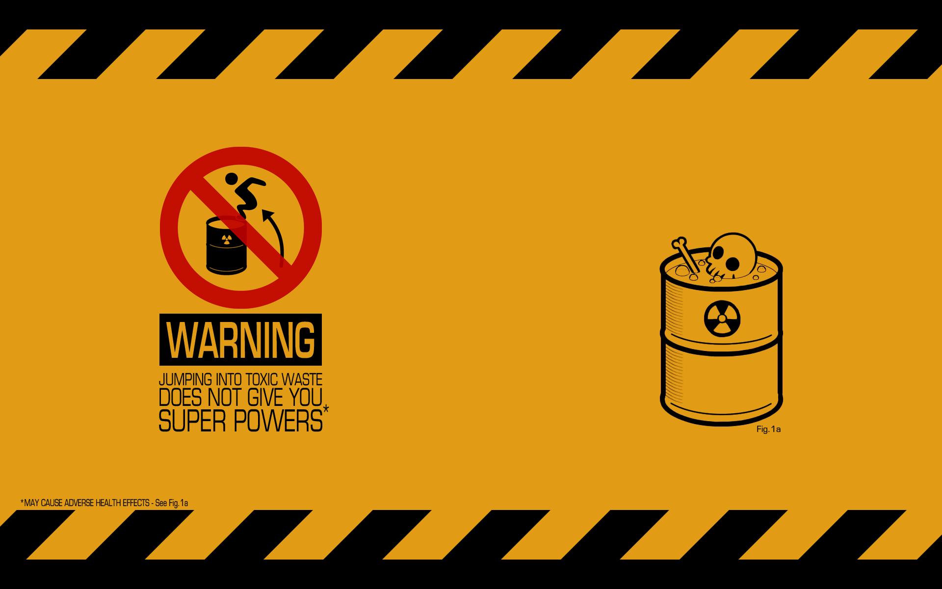 Humor Radioactive Dark Humor Warning Signs Wallpaper