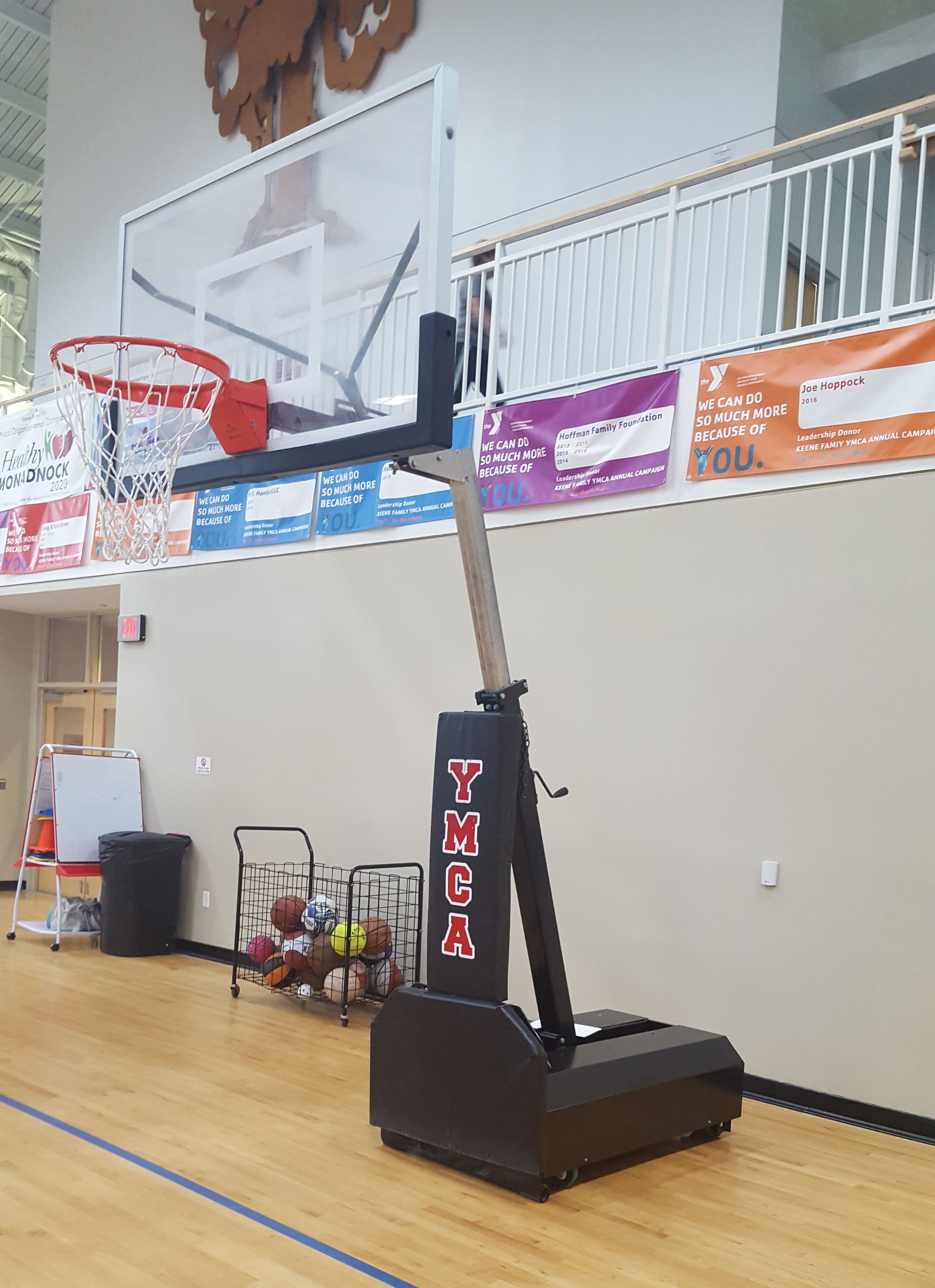 first team s fury select portable basketball goal installed at a