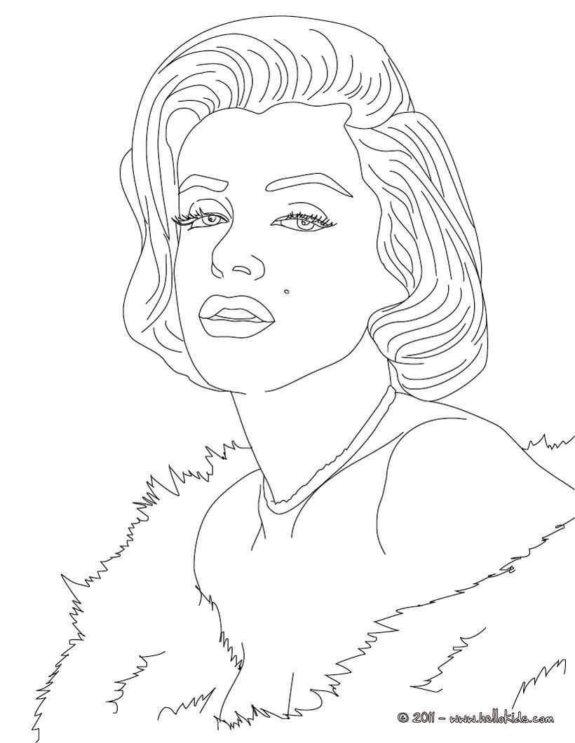 Art Famou Page Coloring Book Marylin Monroe Coloring Page